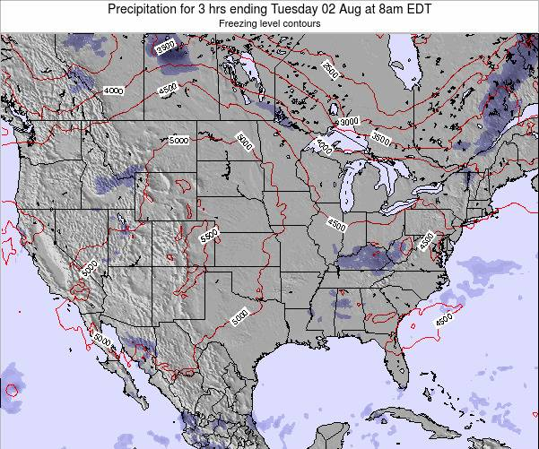 United States Precipitation for 3 hrs ending Thursday 23 May at 8pm EDT