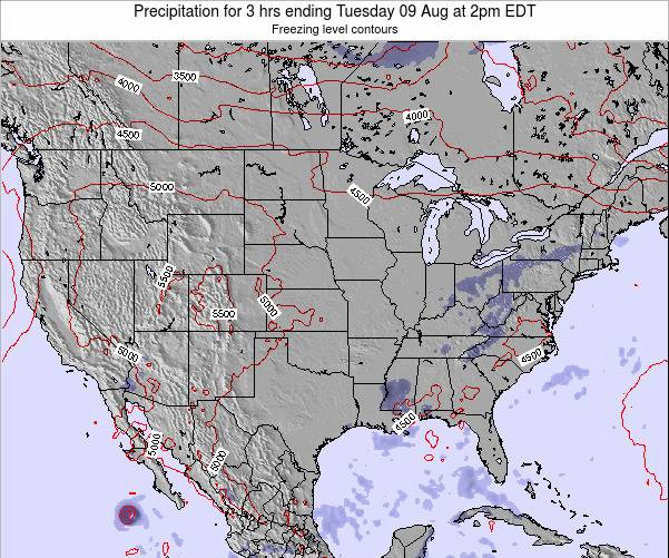 United States Precipitation for 3 hrs ending Friday 24 May at 8am EDT map