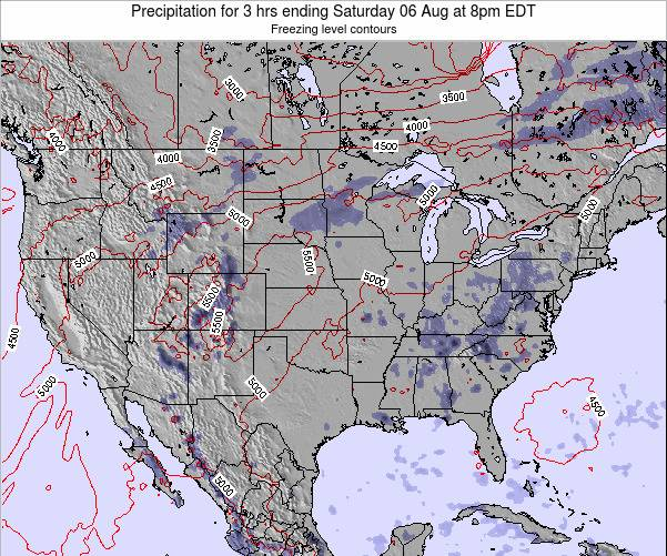 United States Precipitation for 3 hrs ending Wednesday 22 May at 2pm EDT map