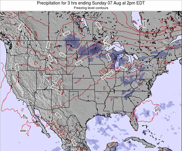 United States Precipitation for 3 hrs ending Friday 24 May at 8am EDT