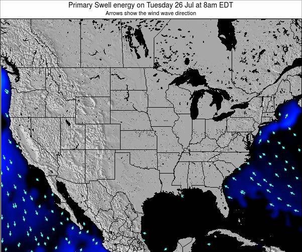 United States Primary Swell energy on Friday 22 Aug at 8am EDT