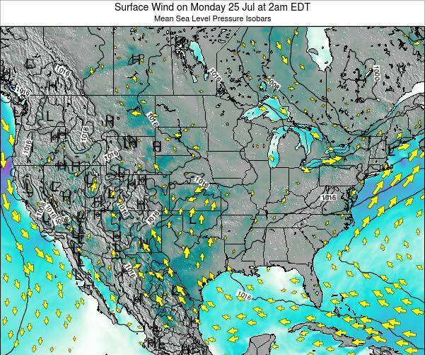 United States Surface Wind on Tuesday 28 May at 8am EDT map