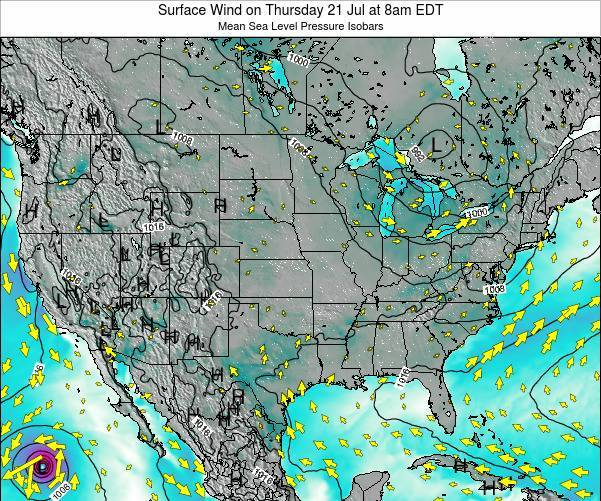 United States Surface Wind on Monday 28 Apr at 8pm EDT