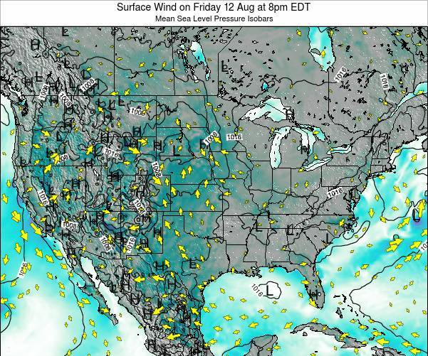 United States Surface Wind on Monday 27 May at 8pm EDT map