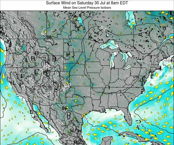 United States Surface Wind on Saturday 26 Apr at 8pm EDT
