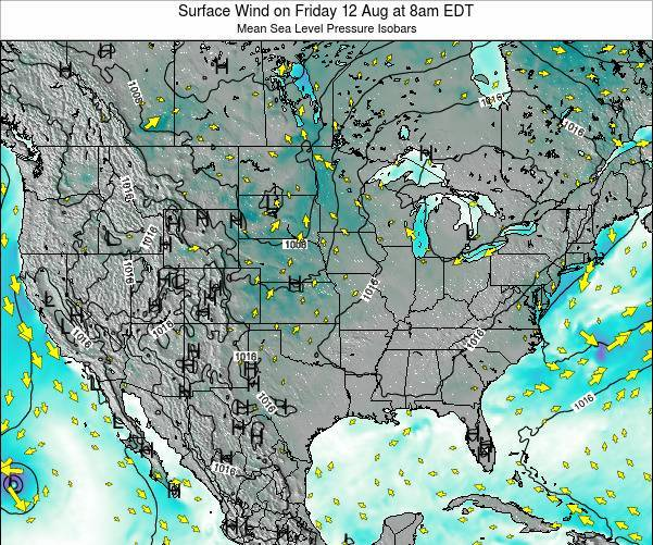 United States Surface Wind on Wednesday 29 May at 8pm EDT map