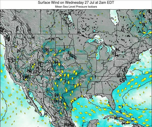 United States Surface Wind on Saturday 15 Mar at 8am EDT