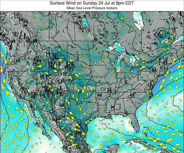 United States Surface Wind on Sunday 20 Apr at 8pm EDT