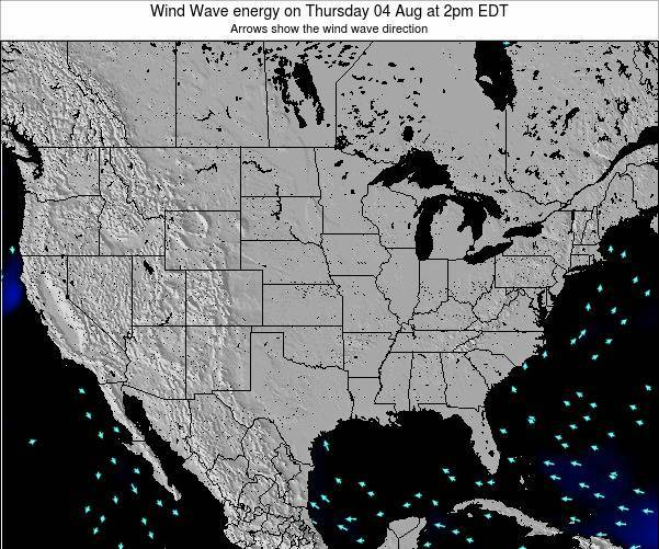 United States Wind Wave energy on Monday 10 Mar at 8pm EDT