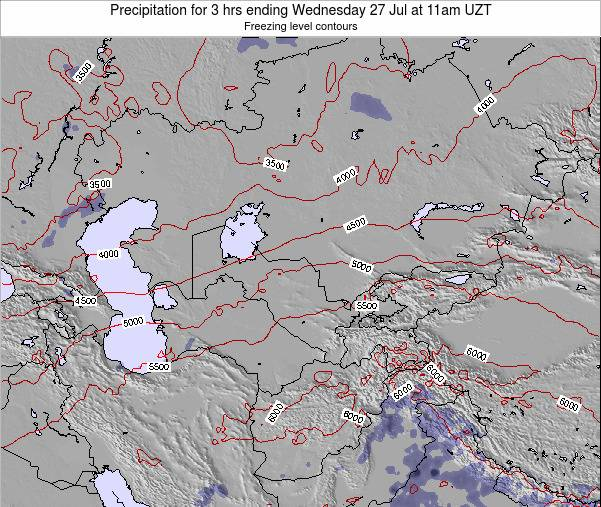 Kazakhstan Precipitation for 3 hrs ending Monday 17 Mar at 5am UZT