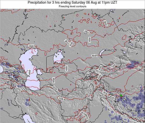 Kazakhstan Precipitation for 3 hrs ending Wednesday 29 May at 11pm UZT