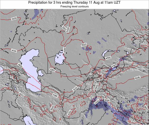 Kazakhstan Precipitation for 3 hrs ending Tuesday 29 Apr at 5pm UZT