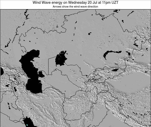 Kazakhstan Wind Wave energy on Monday 27 May at 5am UZT