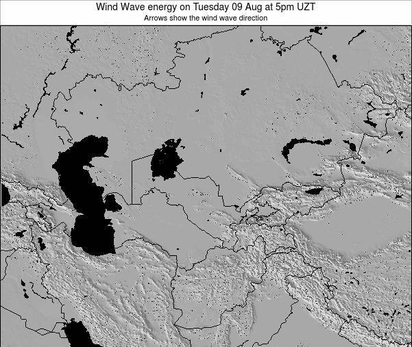 Kazakhstan Wind Wave energy on Tuesday 22 Apr at 5am UZT