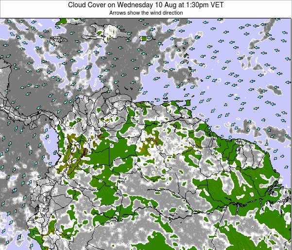 Venezuela Cloud Cover on Tuesday 28 May at 1:30am VET
