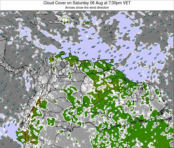 Venezuela Cloud Cover on Wednesday 22 May at 7:30pm VET
