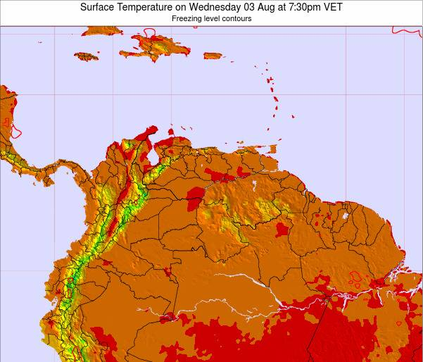 Trinidad and Tobago Surface Temperature on Wednesday 19 Jun at 7:30am VET