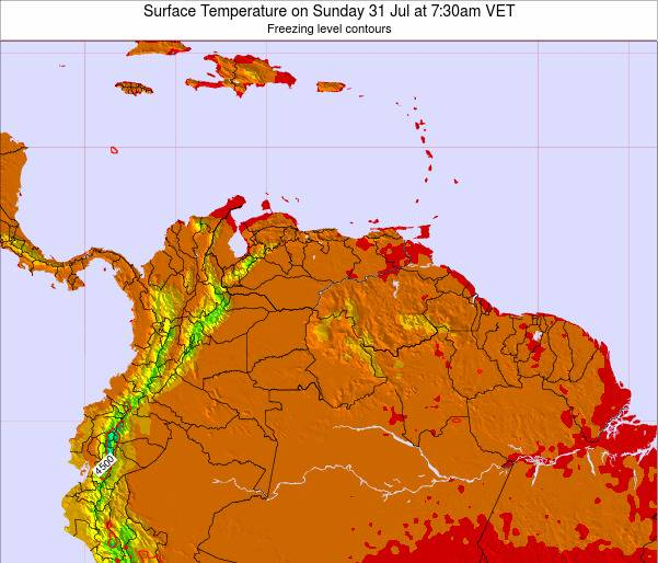 Trinidad and Tobago Surface Temperature on Tuesday 28 May at 1:30pm VET