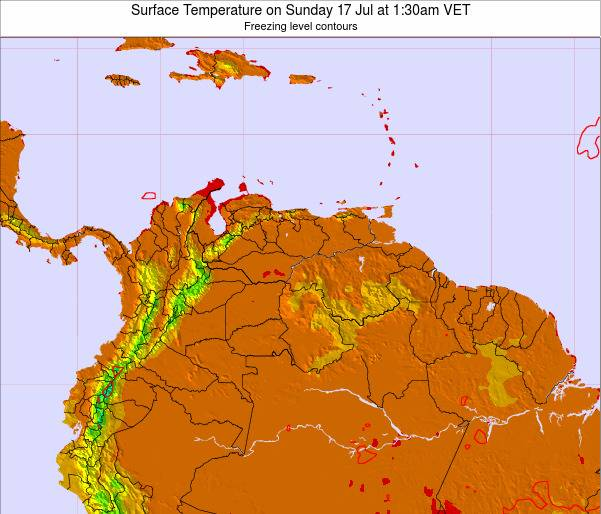 Trinidad and Tobago Surface Temperature on Wednesday 22 May at 7:30am VET