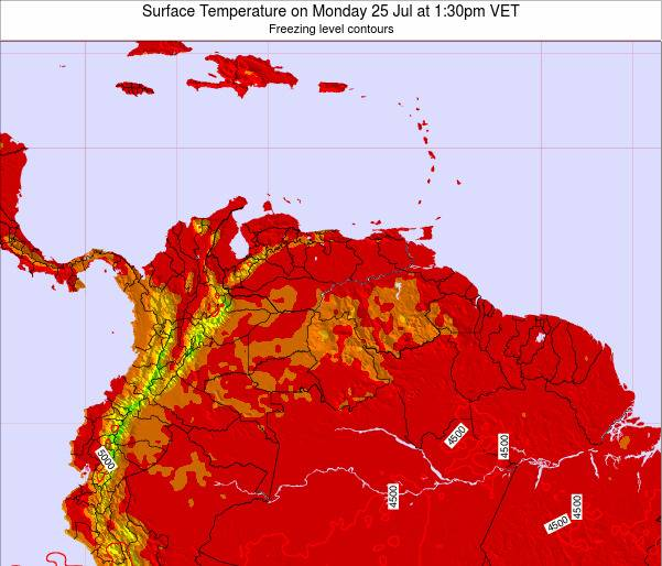 Trinidad and Tobago Surface Temperature on Thursday 23 May at 7:30pm VET