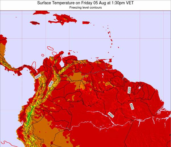 Trinidad and Tobago Surface Temperature on Monday 20 May at 7:30pm VET