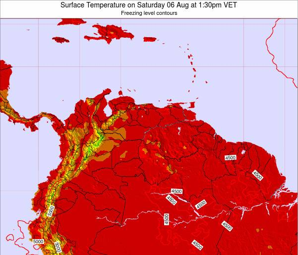 Trinidad and Tobago Surface Temperature on Wednesday 23 Apr at 1:30am VET