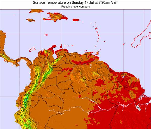 Trinidad and Tobago Surface Temperature on Monday 21 Apr at 1:30am VET