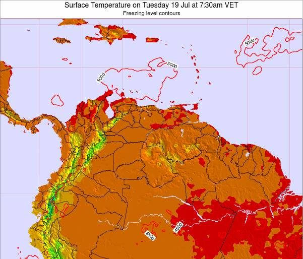Trinidad and Tobago Surface Temperature on Sunday 19 May at 1:30pm VET