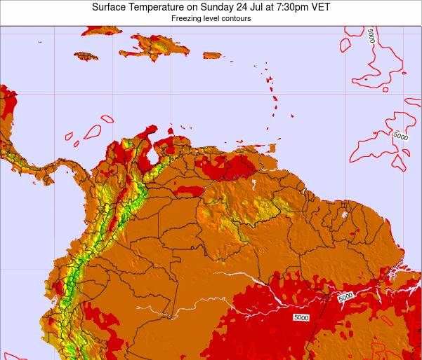 Trinidad and Tobago Surface Temperature on Wednesday 30 Jul at 7:30am VET