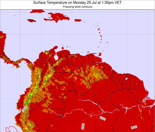 Trinidad and Tobago Surface Temperature on Friday 21 Jun at 7:30am VET