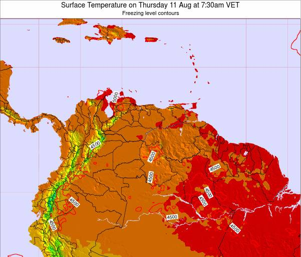 Trinidad and Tobago Surface Temperature on Saturday 22 Jun at 1:30am VET