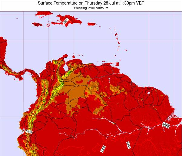 Trinidad and Tobago Surface Temperature on Wednesday 29 May at 1:30am VET