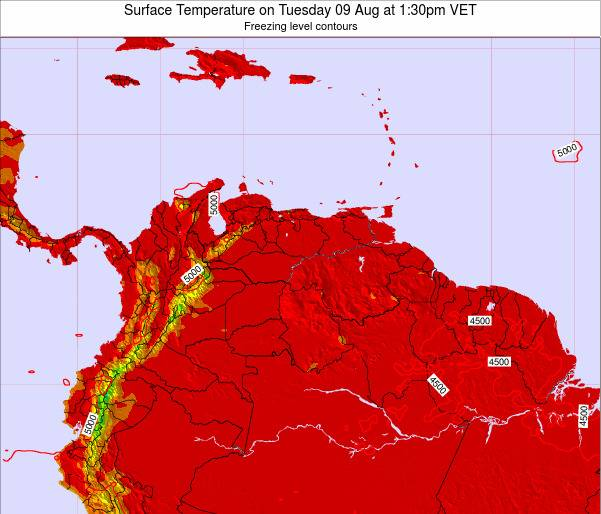 Trinidad and Tobago Surface Temperature on Tuesday 21 May at 1:30pm VET