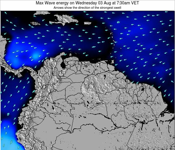 Trinidad and Tobago Max Wave energy on Saturday 26 Jul at 1:30pm VET