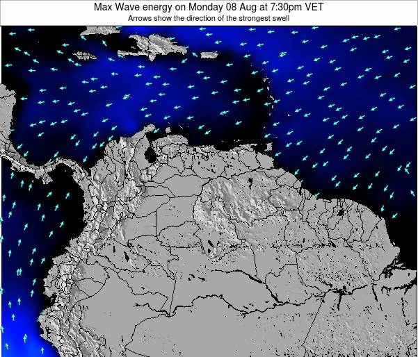 Venezuela Max Wave energy on Saturday 25 May at 1:30pm VET