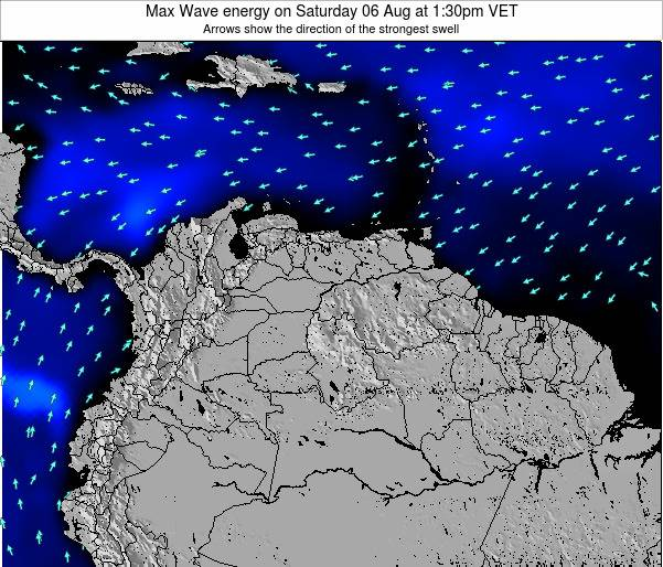 Trinidad and Tobago Max Wave energy on Saturday 02 Aug at 7:30am VET