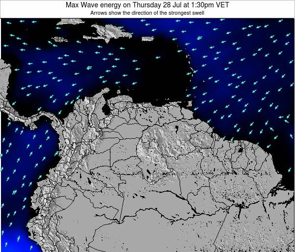 Trinidad and Tobago Max Wave energy on Tuesday 30 Aug at 1:30am VET