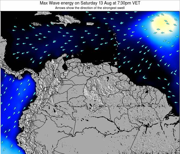 Venezuela Max Wave energy on Sunday 26 May at 7:30pm VET