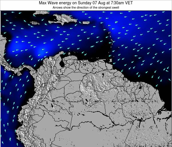 Trinidad and Tobago Max Wave energy on Monday 21 Apr at 7:30pm VET