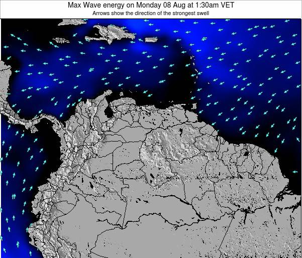 Trinidad and Tobago Max Wave energy on Saturday 15 Mar at 1:30am VET
