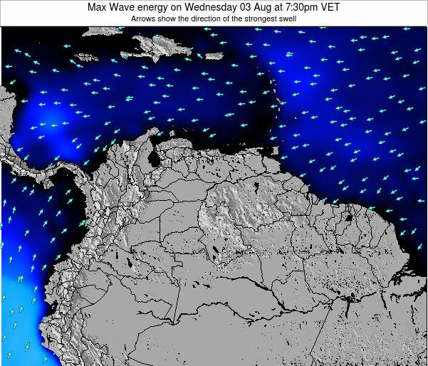 Trinidad and Tobago Max Wave energy on Wednesday 29 Mar at 1:30am VET