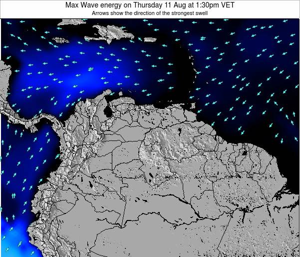 Trinidad and Tobago Max Wave energy on Thursday 15 Dec at 7:30am VET