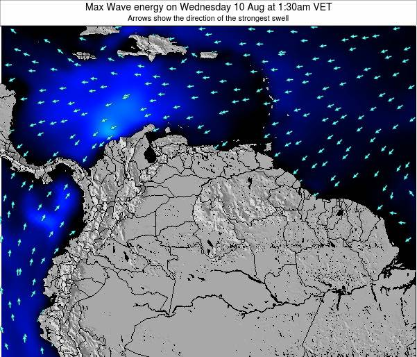 Trinidad and Tobago Max Wave energy on Sunday 27 Jul at 7:30am VET