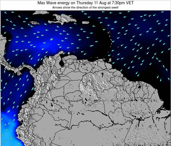 Venezuela Max Wave energy on Monday 24 Jun at 1:30pm VET