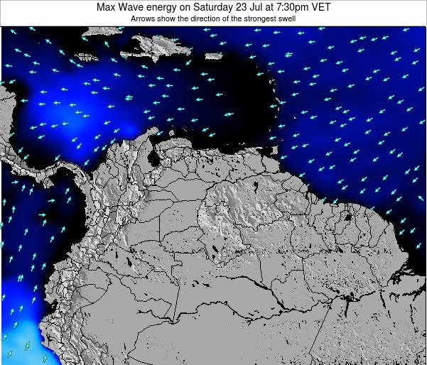 Trinidad and Tobago Max Wave energy on Wednesday 06 Aug at 1:30am VET