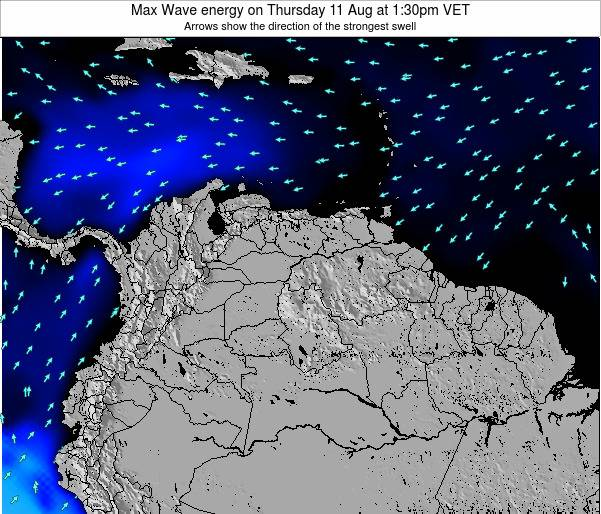 Venezuela Max Wave energy on Wednesday 29 May at 7:30am VET