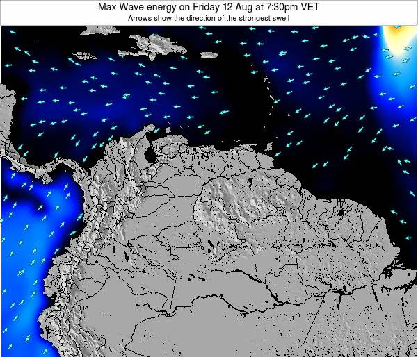 Trinidad and Tobago Max Wave energy on Wednesday 30 Apr at 1:30am VET