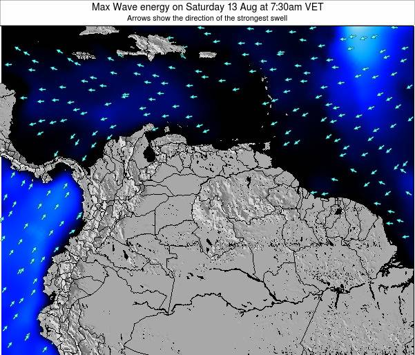Trinidad and Tobago Max Wave energy on Tuesday 28 May at 7:30pm VET