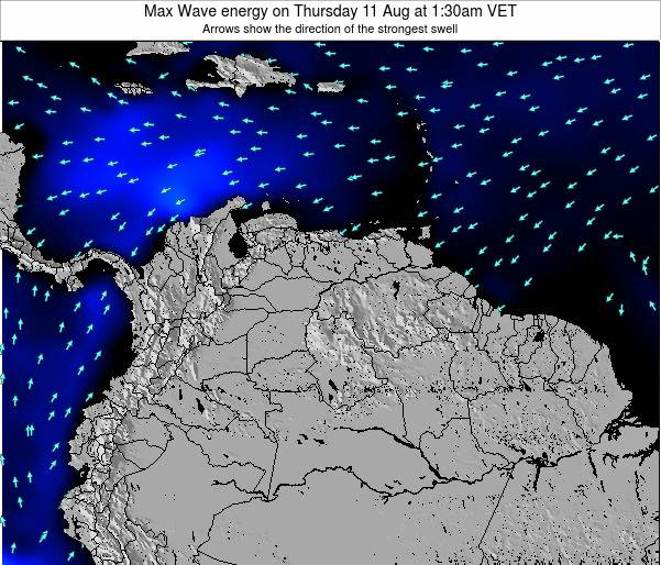 Venezuela Max Wave energy on Saturday 25 May at 7:30am VET