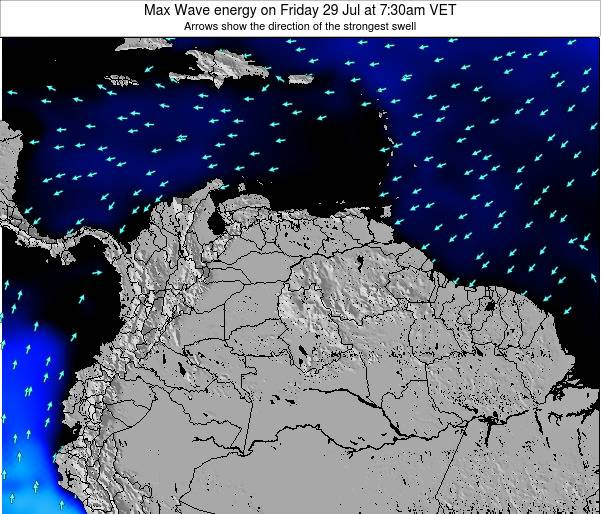 Trinidad and Tobago Max Wave energy on Tuesday 02 May at 7:30am VET